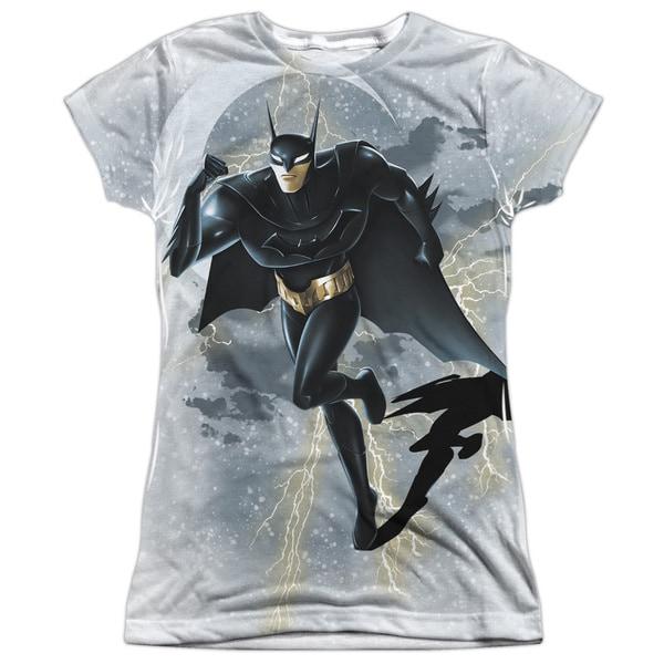 Beware The Batman/Storm Sprint Short Sleeve Junior Poly Crew in White