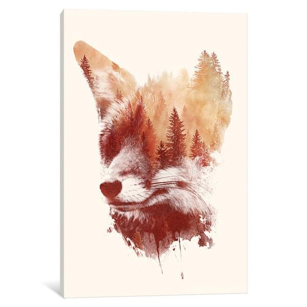 iCanvas Blind Fox by Robert Farkas Canvas Print