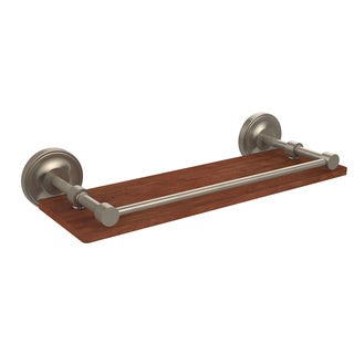 Allied Brass Prestige Regal Collection Clear Solid IPE Ironwood 16-inch Gallery Rail Shelf