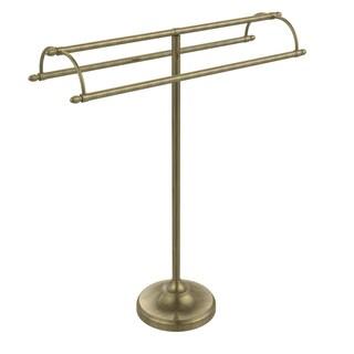 Allied Brass Black, Chrome, Nickel, Brass, Bronze, Copper, Pewter Brass Free Standing Double Arm Towel Holder