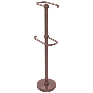 Allied Brass Free Standing Brass Two-roll Toilet Tissue Stand