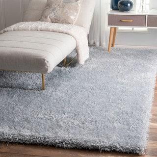 nuLOOM Handmade Soft and Plush Dream Shag Silver Sage Rug (7'6 x 9'6)
