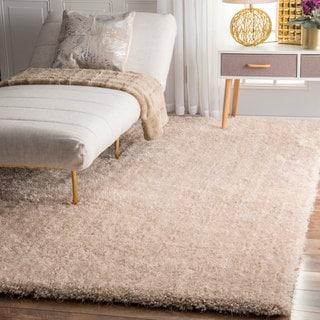 nuLOOM Handmade Soft and Plush Dream Shag Natural Rug (8'6 x 11'6)
