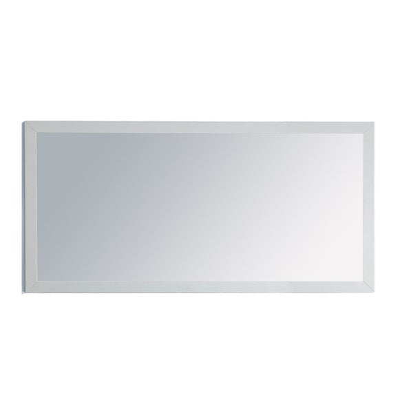 Odyssey Collection White Wood Framed Mirror