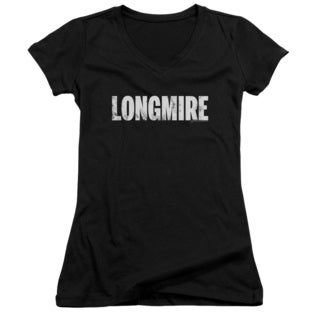 Longmire/Logo Junior V-Neck in Black
