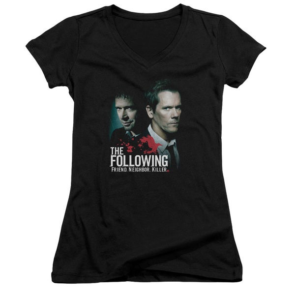 Following/Enemies Junior V-Neck in Black