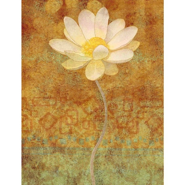 "Marmont Hill - ""White Lotus"" Print on Canvas"