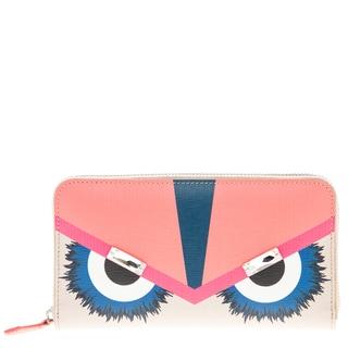 Fendi Jewel Embellished 'Monster' Zip-Around Continental Wallet