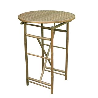 Zew Handcrafted Round Espresso Bar Height Table
