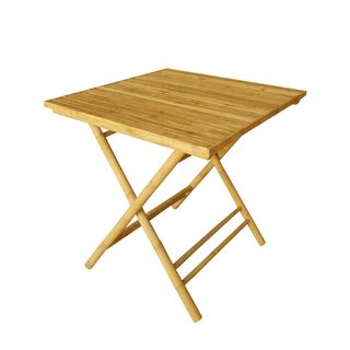 Zew Handcrafted Square Bamboo Table