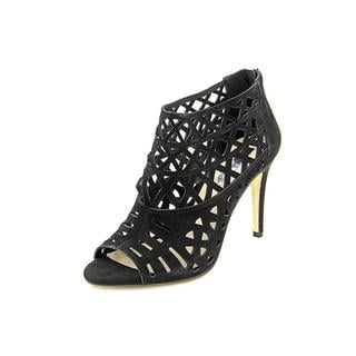 INC International Concepts Women's Rammee Black Regular Suede Sandals