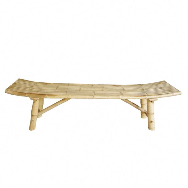 Zew Handcrafted Natural Bamboo Bench