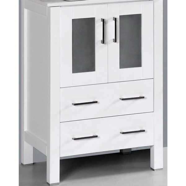 24-inch A-WH-24MC White Single Vanity Cabinet