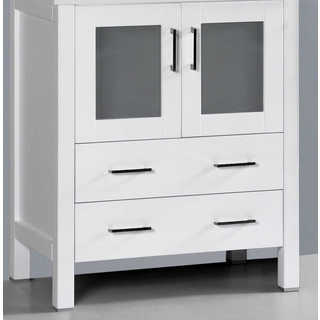 30-inch A-WH-30MC White Single Vanity Cabinet