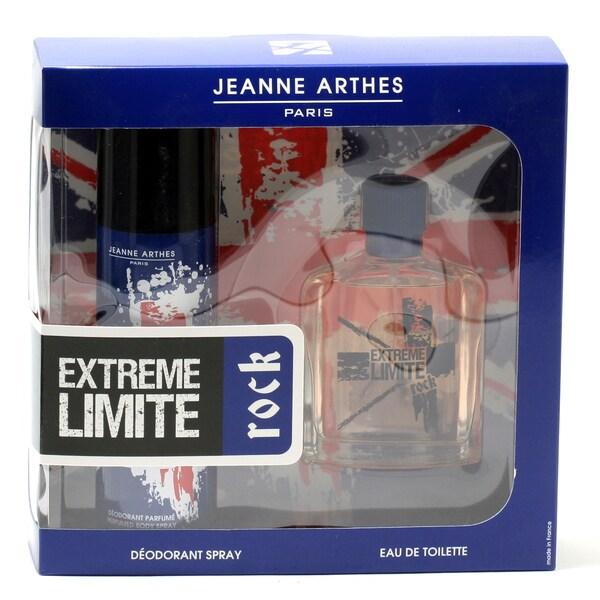 Jeanne Arthes Extreme Limite Rock Men's Fragrance 2-piece Gift Set 18808773