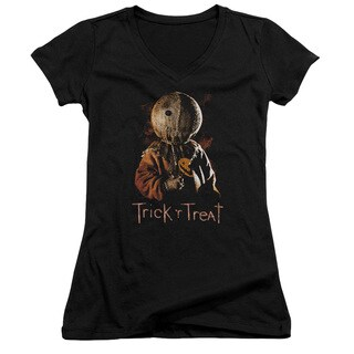 Trick R Treat/Sucker Junior V-Neck in Black