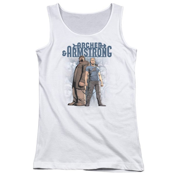 Archer & Armstrong/Two Against All Juniors Tank Top in White