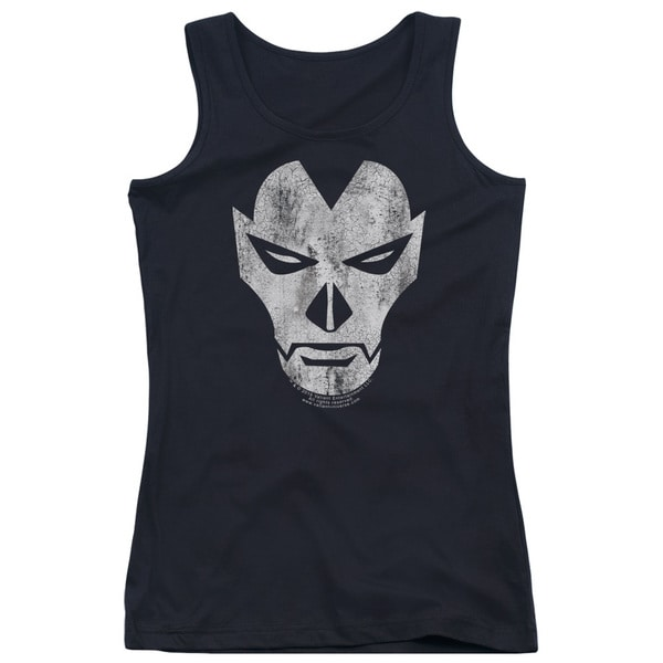Shadowman/Face Juniors Tank Top in Black