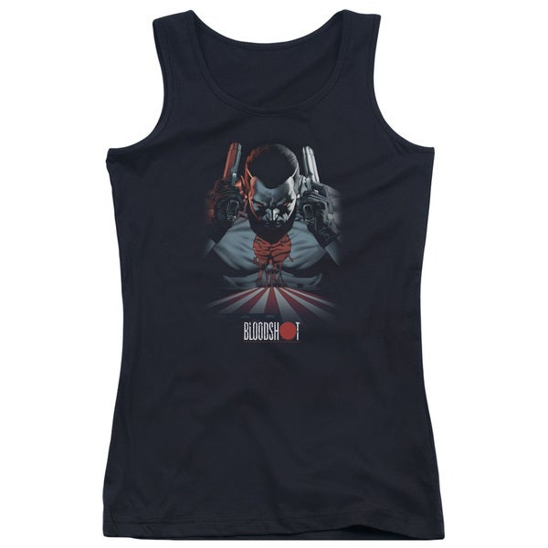 Bloodshot/Blood Lines Juniors Tank Top in Black
