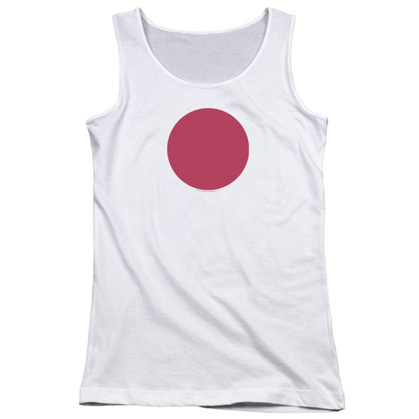 Bloodshot/Spot Juniors Tank Top in White