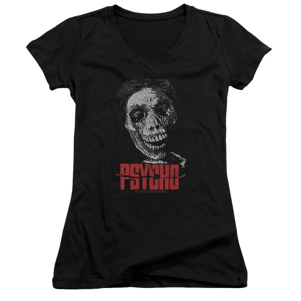 Psycho/Mother Junior V-Neck in Black