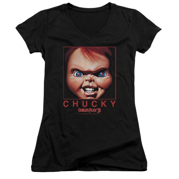 Childs Play/Chucky Squared Junior V-Neck in Black
