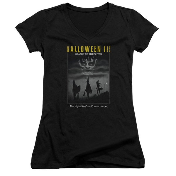 Halloween Iii/Kids Poster Junior V-Neck in Black