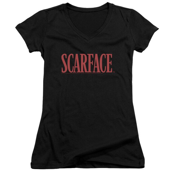 Scarface/Logo Junior V-Neck in Black