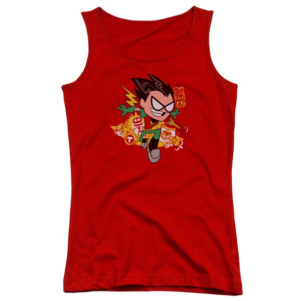 Teen Titans Go/Robin Juniors Tank Top in Red