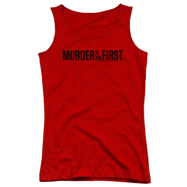 Murder in The First/Logo Juniors Tank Top in Red