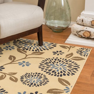 Christopher Knight Home Roxanne Caitlyn Indoor/Outdoor Floral Ivory Rug (8' x 10')
