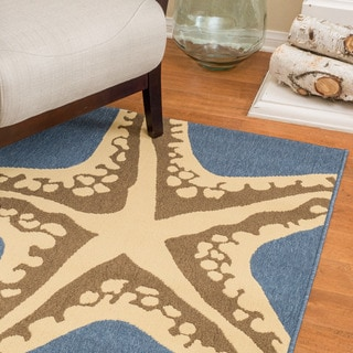 Christopher Knight Home Roxanne Susan Indoor/Outdoor Blue Rug (5' x 8')