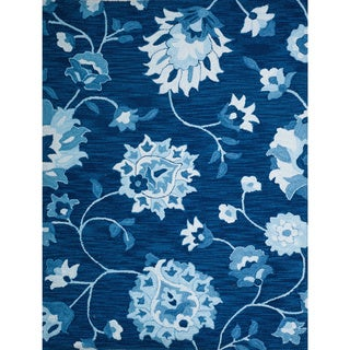 Christopher Knight Home Roberta Anna Polyester Navy Floral Rug (8' x 10')