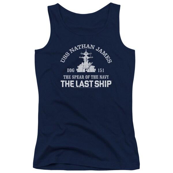 Last Ship/Open Water Juniors Tank Top in Navy