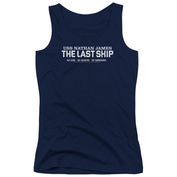 Last Ship/Find The Cure Juniors Tank Top in Navy