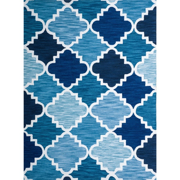 Christopher Knight Home Roberta Trinity Blue Polyester Rug (5' x 7')