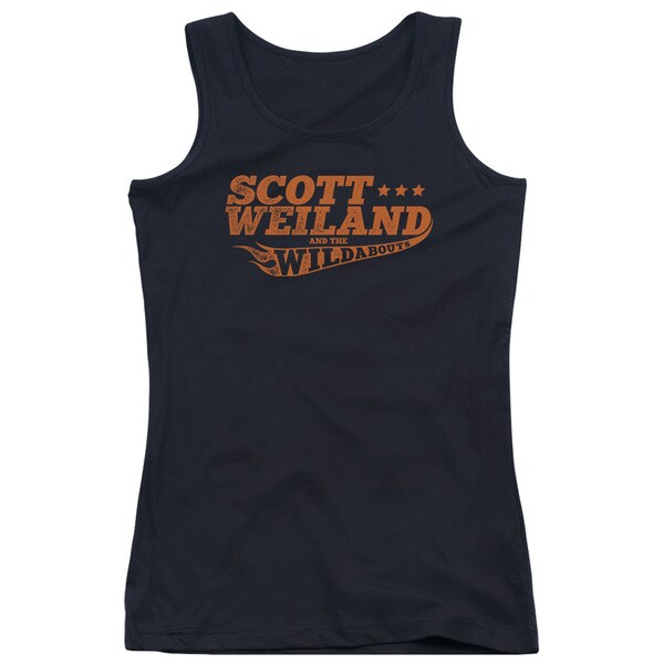 Scott Weiland/Logo Juniors Tank Top in Black
