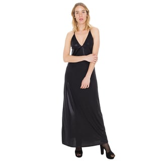 American Apparel Women's Metallic Jersey Strappy Maxi Dress