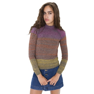 American Apparel Women's Gaia Multicolored Cotton Raglan