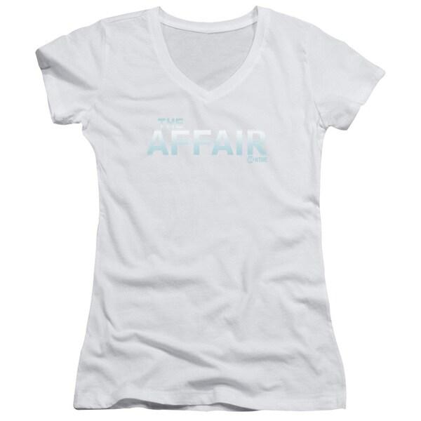 Affair/Logo Junior V-Neck in White