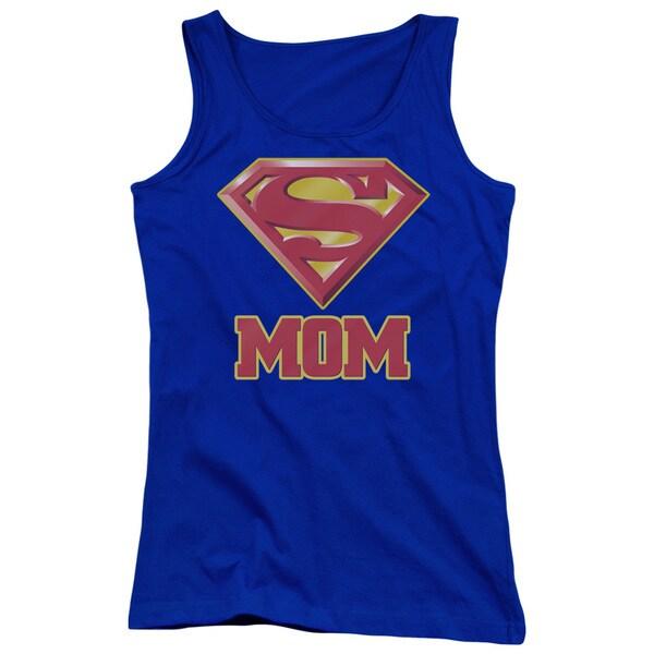 Superman/Super Mom Juniors Tank Top in Royal Blue