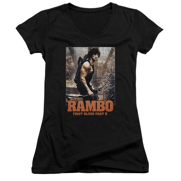 Rambo:First Blood Ii/The Hunt Junior V-Neck in Black