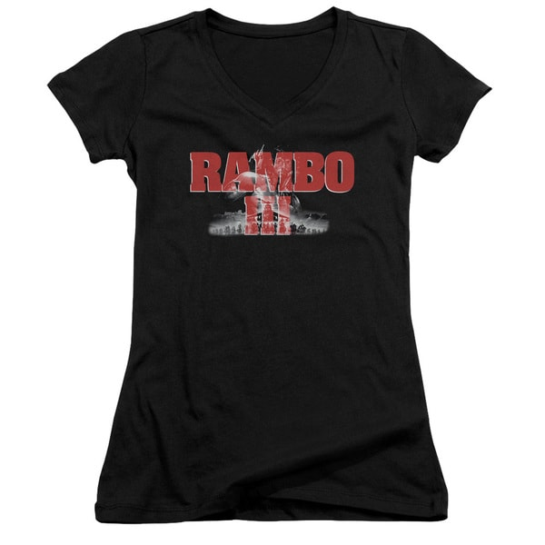 Rambo Iii/John Rambo Junior V-Neck in Black
