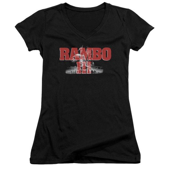 Rambo Iii/John Rambo Junior V-Neck in Black