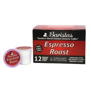 Baristas Espresso Roast Single Serve K-Cups (Pack of 12)