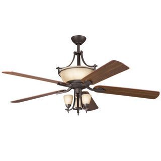 Kichler Lighting Olympia Collection 60-inch Olde Bronze Ceiling Fan w/Lights