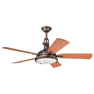 Kichler Lighting Hatteras Bay 56-inch Oil Brushed Bronze Ceiling Fan w/Light