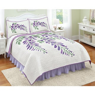 Purple Patch Whole Cloth Quilt