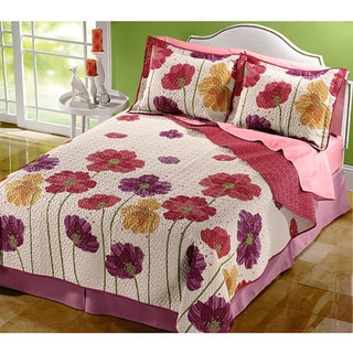 Poppy Fields Coquette Whole Cloth Quilt
