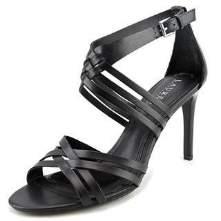 Ralph Lauren Women's 'Saba' Black Leather Sandals
